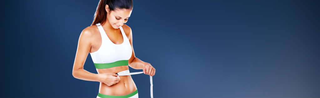 body contouring results: tape measure around waist