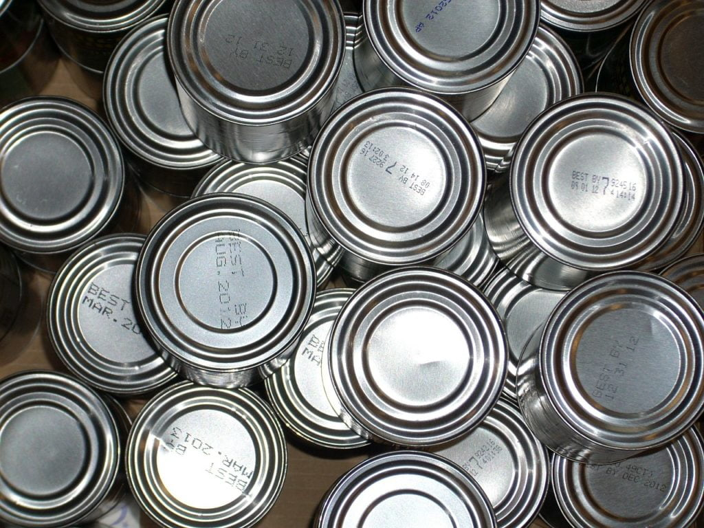tin cans with date codes
