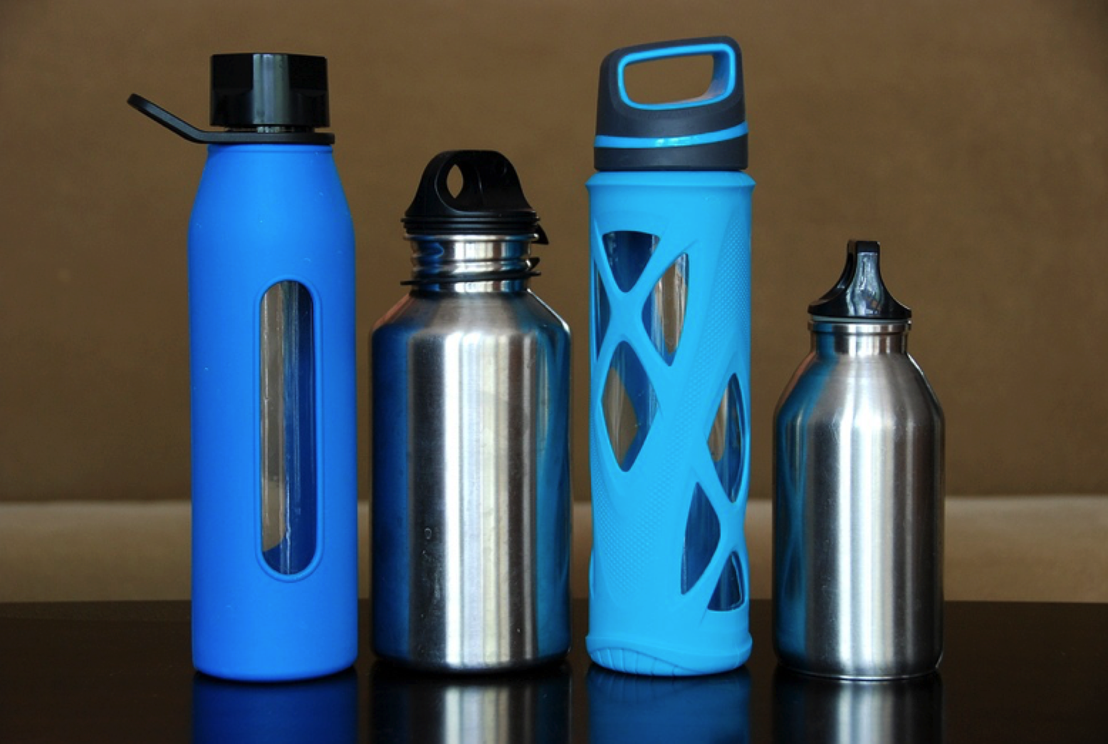 Water bottles - water is the key.