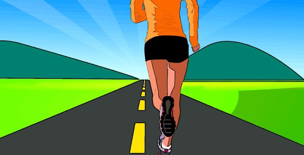 woman jogger illustration