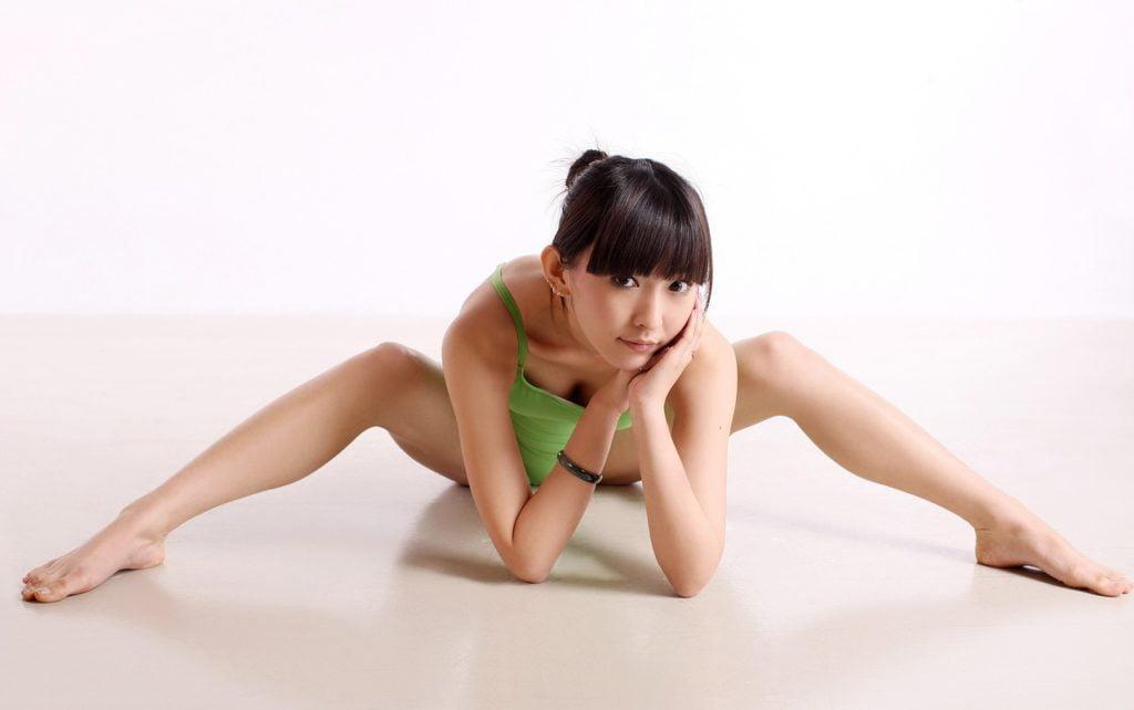 woman on floor in yoga pose