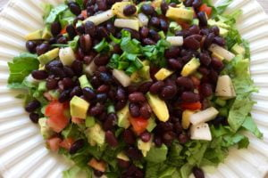 plant-based nutrition: all-in-one entree; complete meal in a salad with protein